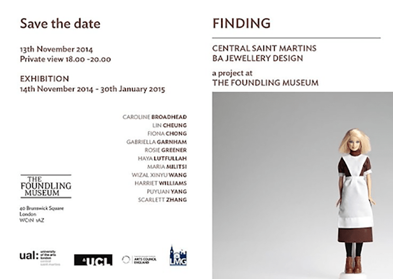 Exhibition at Foundling Museum, London