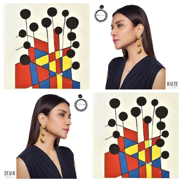 These earrings, inspired by Jason Calder's 'Balloons' have delicate movement and are a collector's piece.